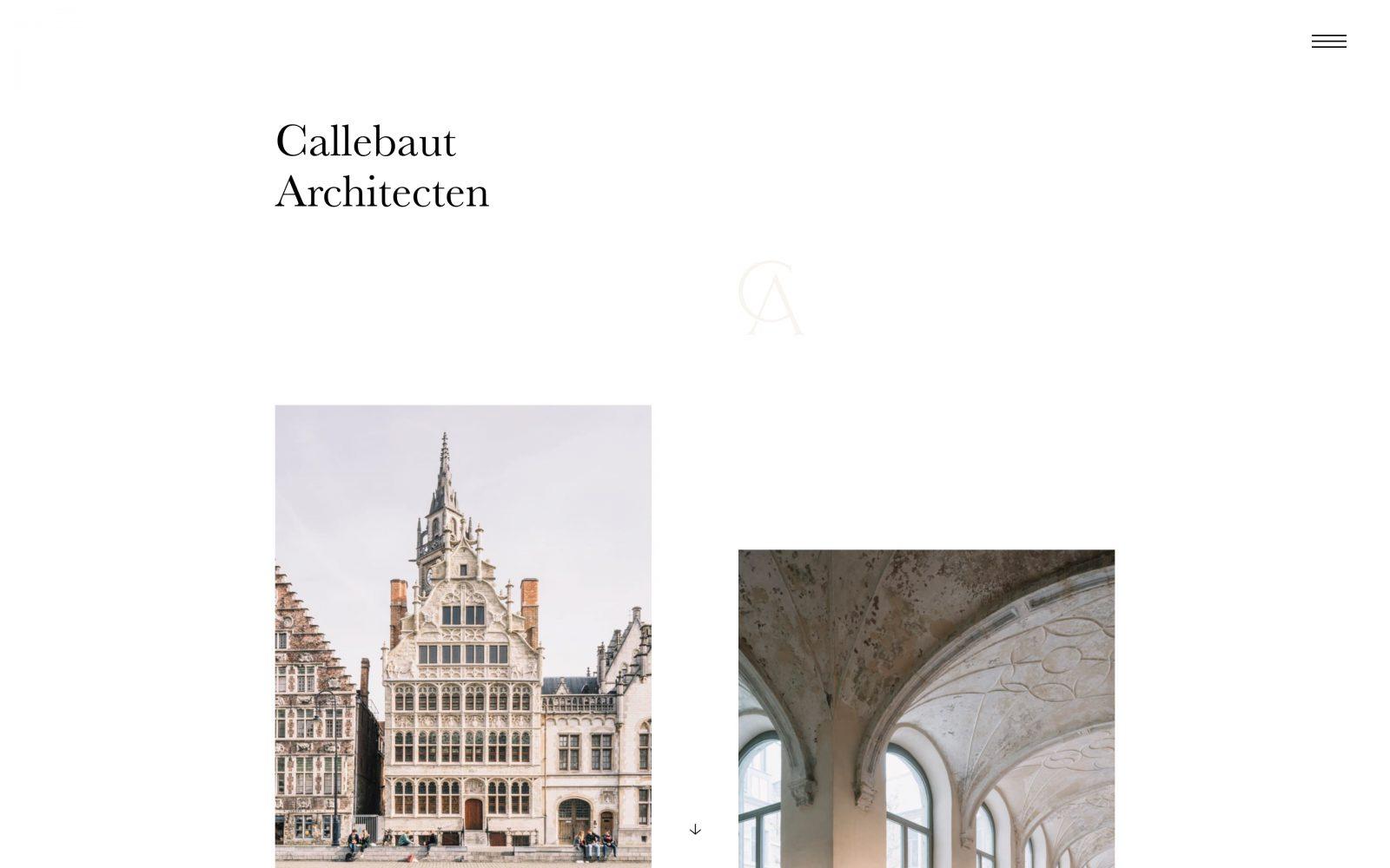 WordPress web development voor Callebaut Architecten door métier uit Gent