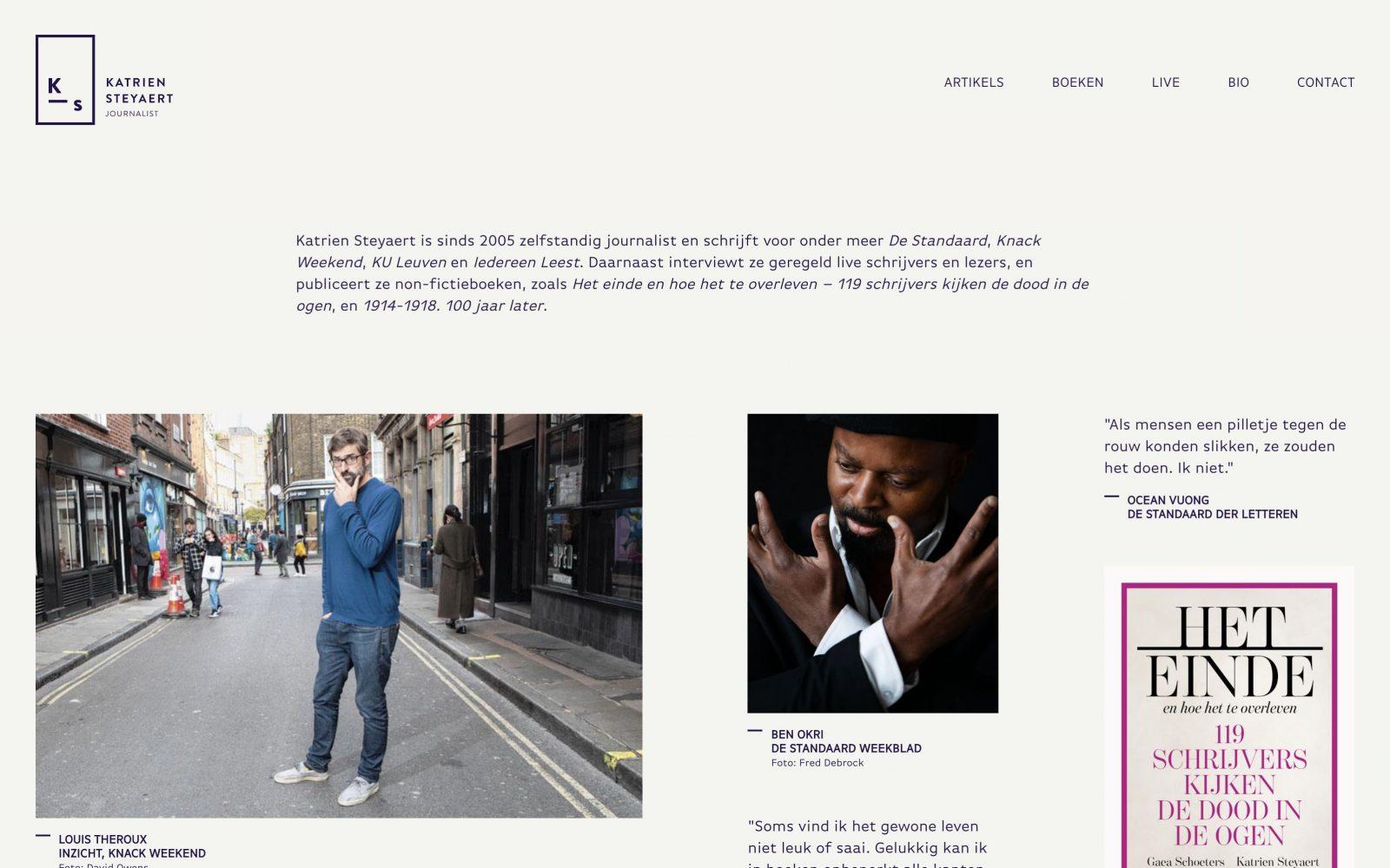 wordpress website op maat voor katrien steyaert ontwikkeld door studio métier uit gent